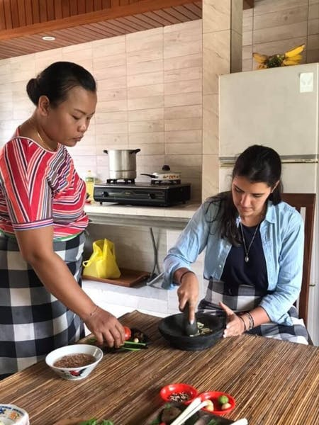 We starting  cooking class from 2009 and we do this class realy at the tradional balines house  We cooking together with family sharing with balinese atmosfir