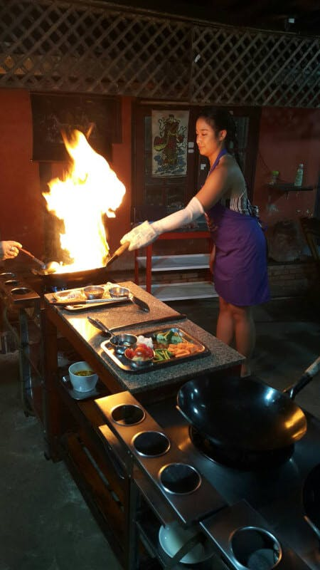 The first cookery school in chiangmai town