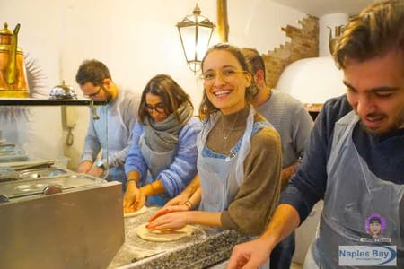 Pizza making class and the secret dough with a starter taste . Best experience in Naples