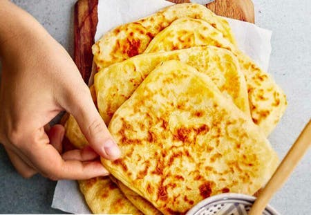 Online Msemen ; Moroccan square crepe