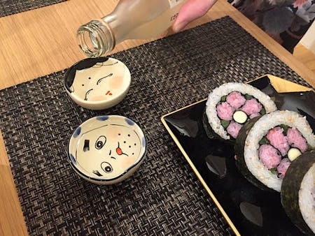 Adorable! Flower Patterned sushi roll
